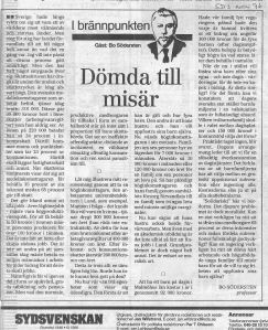 1996 Dömda till misär Bo Södersten